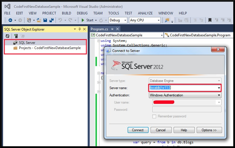 VS2013 Not Expanding LocalDB In SQL Server Object Explorer