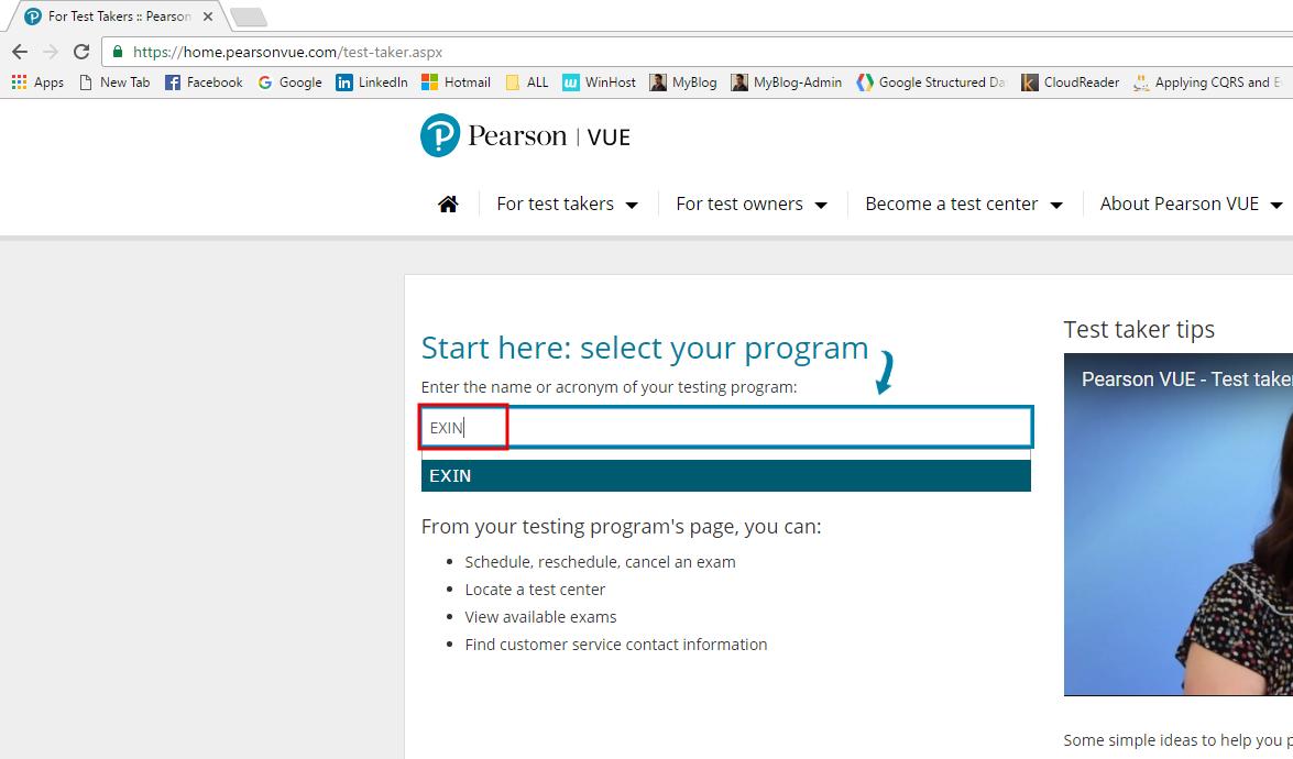 Como agendar el examen ITIL Foundation - Programa