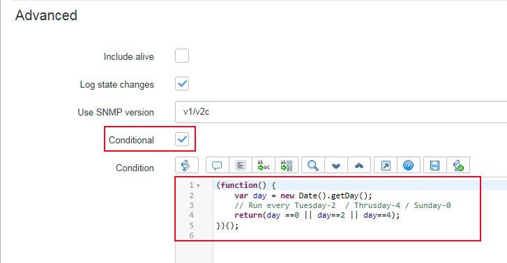Como ejecutar un Discovery Schedule con Condition Script - Condition