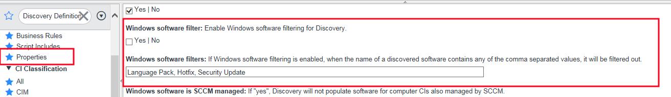 Como agregar los Security Update al CI - Windows software filter
