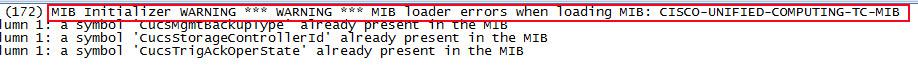 Error al agregar un SNMP MIB - Error en log